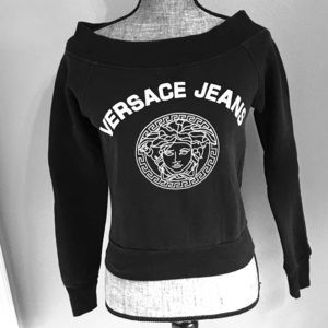 Vintage Versace Jeans Cropped Sweatshirt Small